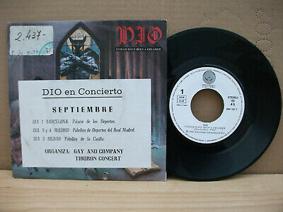 "7"" Ronnie James Dio I could have been a dreamer Spain Promo Sticker Live Concert"