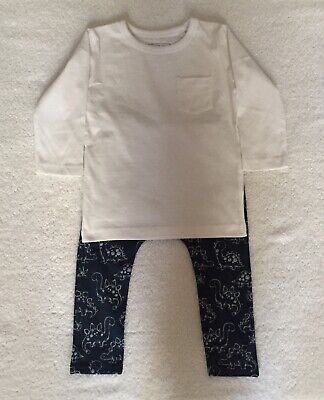 Next Baby Boy Leggings & Top Outfit 12 - 18 Months - Brand New Without Tag