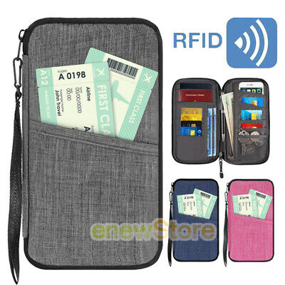 Travel Wallet Family Passport Holder ID Card Document Ticket Organizer Bag Purse