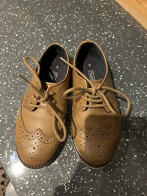 Boys Brogue Shoes In Brown Size 8 Infant By Next