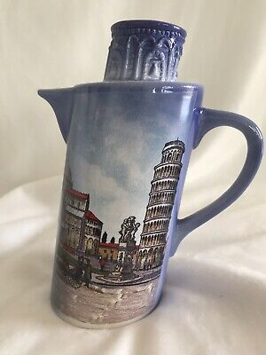 Vintage Souvenir Tower of Pisa Ceramic Pitcher Made in  Italy