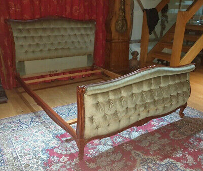 Antique French Louis Xv Style King Size Bed Frame