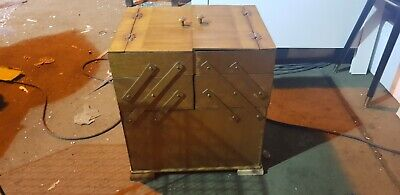 Vintage Sawing box with sawing items inside
