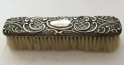 Victorian Silver Backed Dressing Table Brush. Hallmarked 1896