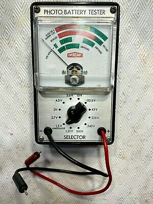 Vintage EveReady PF-1085 Photo Battery Tester 1.35 Volts - 510 Volts Works