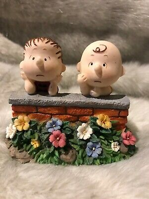 Vintage Peanuts Charlie Brown and Linus Westland Giftware Figurine