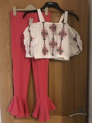 Girls River Island Top & Trousers
