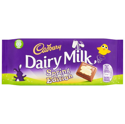 Full Box of 20 Cadbury Dairy Milk Spring Edition Bar 100g Free Tracked Delivery