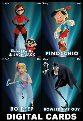 Topps Disney Collect ENCHANTED TRANSFORMATIONS Series 1 [4 CARD SET] Elastigirl+