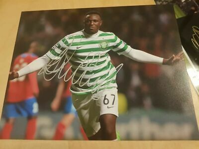 Signed Victor Wanyama Celtic Celebration Photo Charity Spurs Kenya
