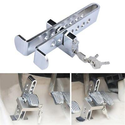 Stainless Steel Anti-theft Device Clutch Pedal Lock Car Brake Security Tool SALE
