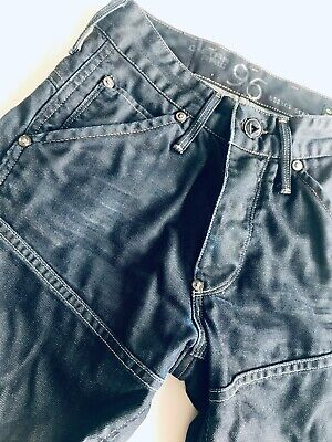 Boys G-Star Raw Elwood Heritage Embro Tapered Jeans Denim 26 W 30 L Blue 12 year