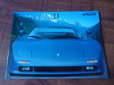 Luxueuse brochure publicitaire De Tomaso Guara
