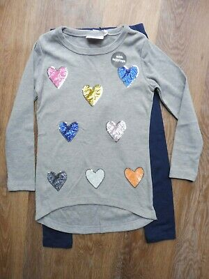 BNWT Next girl's sparkly top & leggings outfit 7-8 yrs - fantastic!