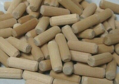 "Wooden Dowel Pins Fluted 1/2"" X 1 1/2"""