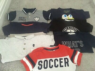 Lovely Bundle Boys 7x Short Sleeve T-shirts 3-4 Years H&M Bluezoo Next