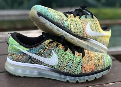 NIKE AIR MAX Flyknit Multicolore Taille 12 Us 46 Authentique