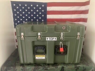 Pelican Hardigg Military Footlocker Style Transport Storage Case -FREE SHIPPING-