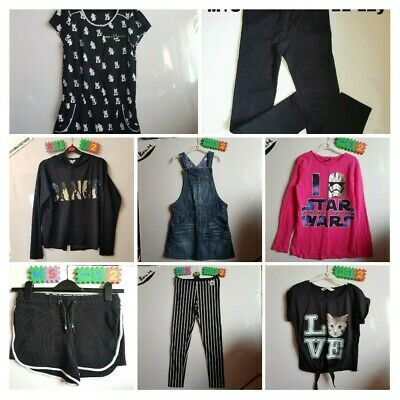 Girls Age 11-12 Year Bundle Outfit Playsuit Jeans Dress Tops Leggings Shorts VGC