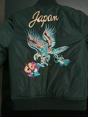 NEXT Girls green Embroidered Bomber Jacket Age 4 years