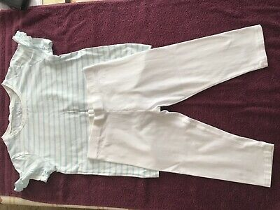 NEXT GIRLS T SHIRT AND CROPPED TROUSERS BUNDLE AGE 12 uk(worn/washed once )
