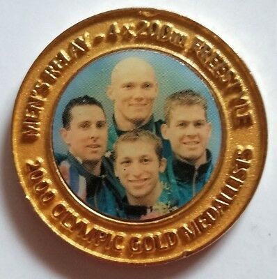 2000 Olympic Game Medallist 4x200m Swimming - Daily Telegraph collection medal