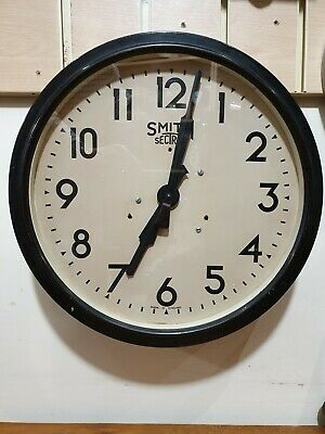 Vintage Large Smithes Bakelite Circular Office Wall Slave Clock