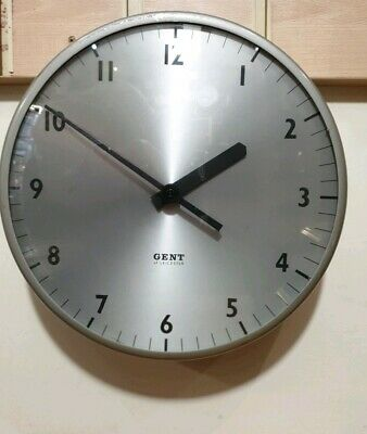 Vintage Gents Circular Office Wall Slave Clock