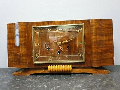Vintage Large Vedette 8 Day French Chiming Table Clock