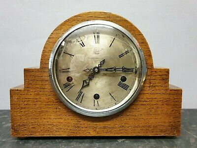 Vintage Deco 8 Day Westminster Chiming Mantle Clock