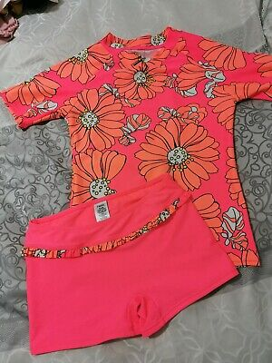 Next Girls Two Piece Sun Safe Swimsuit Age 9 Years