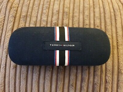Tommy Hilfiger Dark Blue Fabric Clamshell Sunglasses/Glasses Case