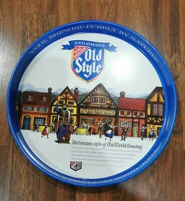 """vintage Old Style - Heilemans Beer Tray """"Cool Brewed - Purely by Nature"""""""