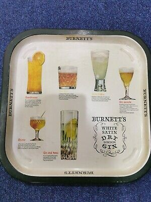 BURNETTS GIN Cocktail  serving Tray  RARE