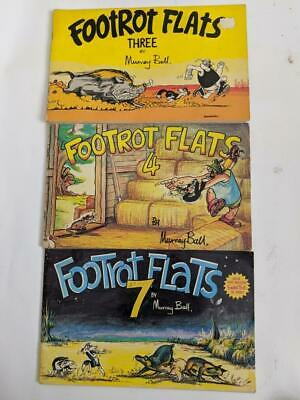 Footrot Flats 3 , 4 and 7 ( 3 Books) Murray Ball  First editions