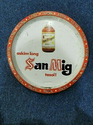 RARE San Mig from PNG with Tokpisin words  serving Tray RARE
