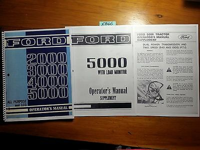 Ford 2000 2110 3000 4000 4110 5000 All Purpose & LCG Tractor 1968-75 Oper Manual