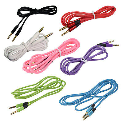 3.5mm Auxiliary Aux Male to Male Stereo Cord Audio Cable for PC iPod MP3 Ca D2J1
