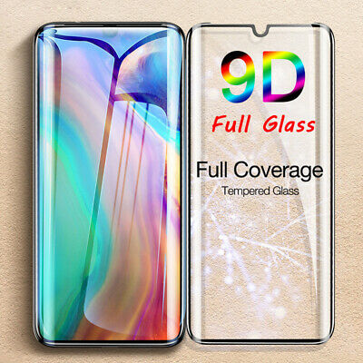 For Huawei P20 P30 Pro Lite Tempered Glass Full Cover Curved Screen Protector_AN