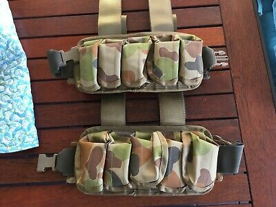 5 Compartment 9mm Magazine Mag / 40 mm Grenade Pouch Webbing Carrier Holder X2