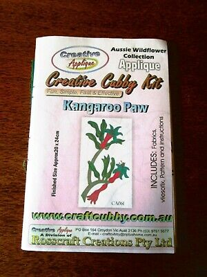 Creative Cubby Kit Applique Kit Of Kangaroo Paw Flowers