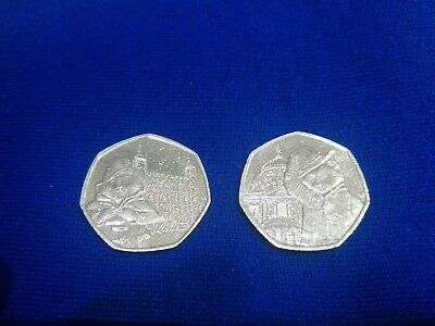 2019 Paddington Bear 50p Fifty pence Coin Tower Of London and St.Pauls Cathedral
