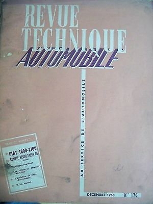 FIAT 1800 2100 - Revue Technique Automobile