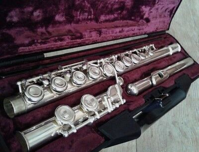Buffet 228 Crampon Paris Cooper Scale E Silver Flute with Padded Case