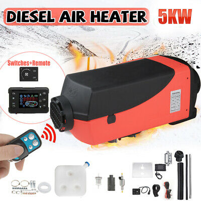 12V 5000W Air Diesel Heater LCD Display 5KW for Car Boats Truck Motor-Home UK