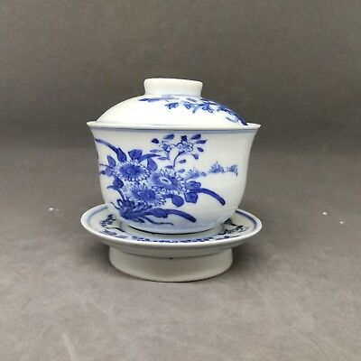 Chinese Porcelain Kangxi  Tea Cup and Suacer with Marked