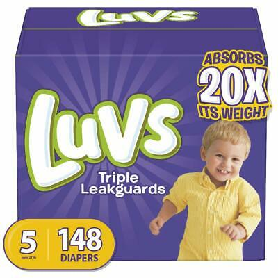 Diapers Size 5, 148 Count - Luvs Triple Leakguards Disposable Baby Diapers