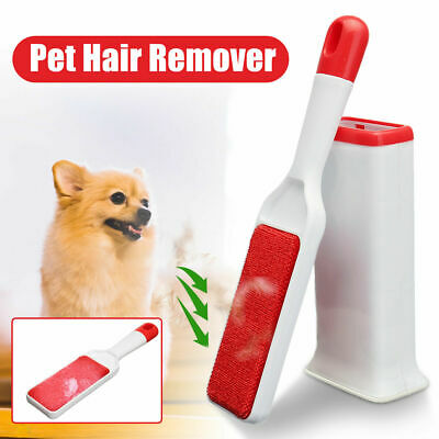 Pet Cat Dog Hair Lint Fur Remover Cleaner Cloth Fluff Fabric Brush Reusable