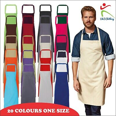PREMIER Adults Kitchen Aprons Unisex Without Pocket Cotton Mens Womens Tabbard