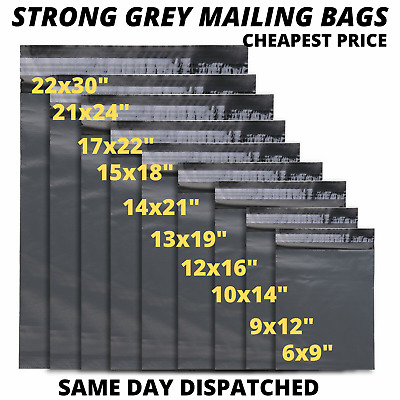All Size Grey Mailing Bags Strong Mail Postage Poly Bag Postal Self Seal Plastic
